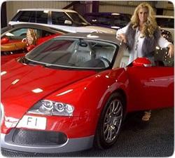 Блондинка заказала сделать розовым Bugatti Veyron за $1,6 млн