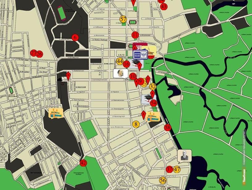В ТГТУ создали интерактивную карту исторических и культурных объектов