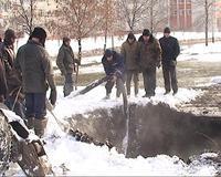 В Тамбове затопило улицу Рылеева