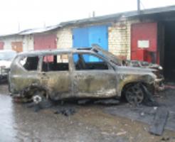 В Тамбове сгорел новенький «Lexus»