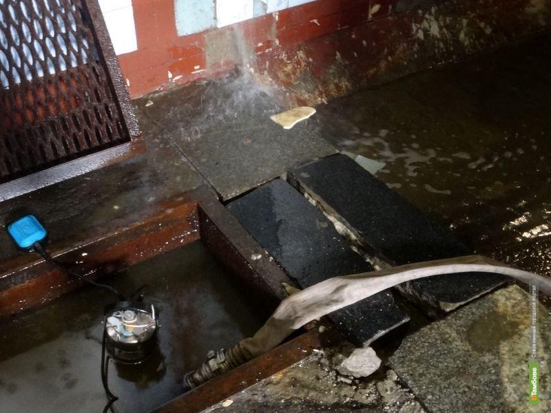 В центре Тамбова начался паводок