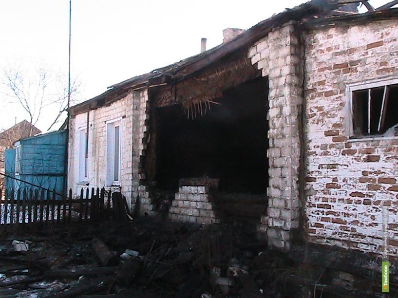 В Жердевском районе при пожаре пострадал человек