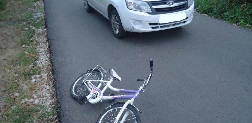 Водитель «Гранты» сбил маленькую девочку на велосипеде