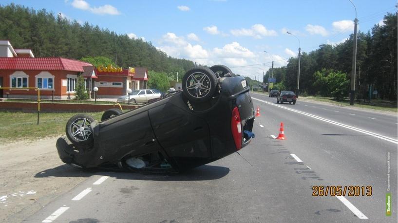 В аварии на выезде из Тамбова пострадали двое взрослых и ребёнок