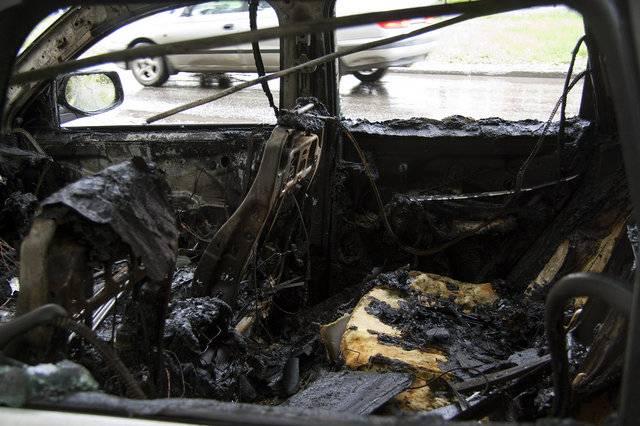 В Тамбове огонь уничтожил Porsche Cayenne