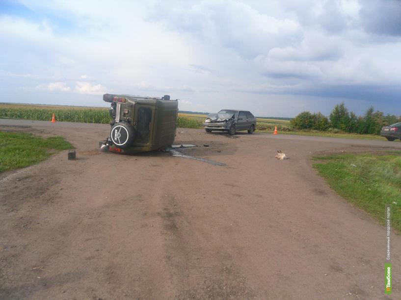 В Ржаксинском районе не поделили дорогу УАЗ и ВАЗ-2113