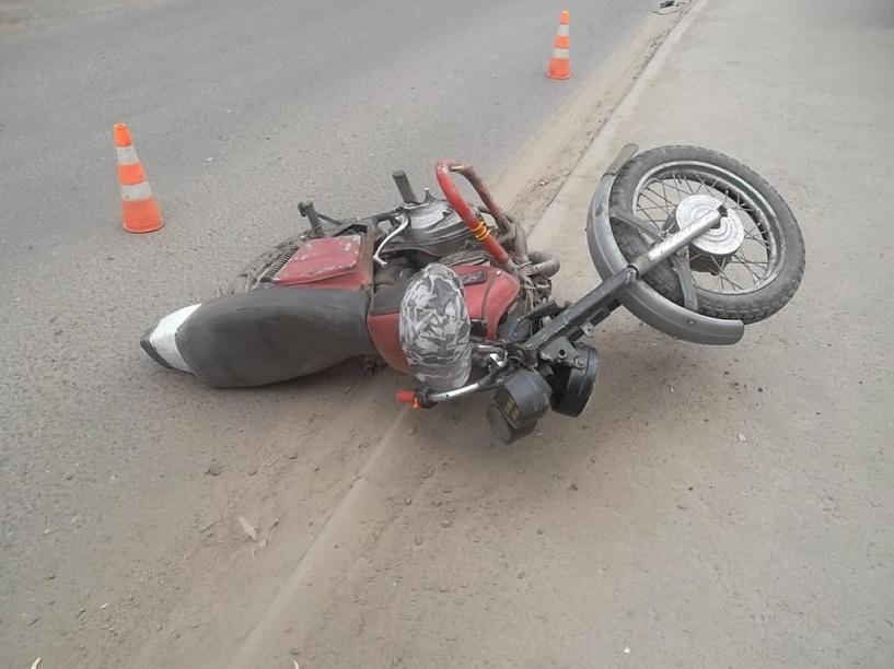 В Рассказово пассажир упал с мотоцикла