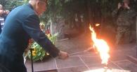 Тамбовский ветеран зажег Вечный огонь в Пушкинских горах