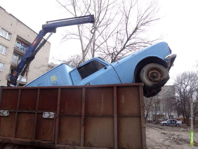 Одну из улиц Тамбова освободили от металлолома