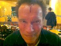Шварценеггер пробил голову на съемках нового фильма