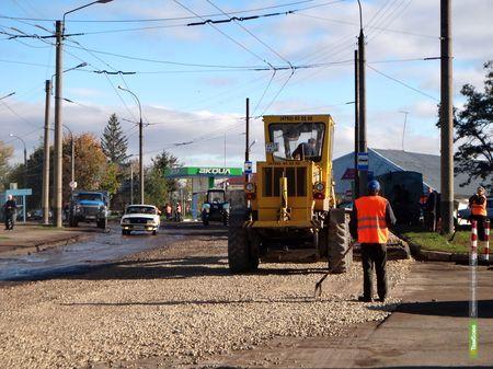 В Тамбове начали ремонт дороги на Монтажников