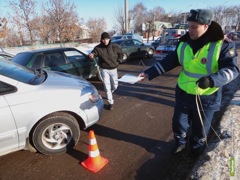 За минувшие сутки в Тамбовской области произошло 54 ДТП