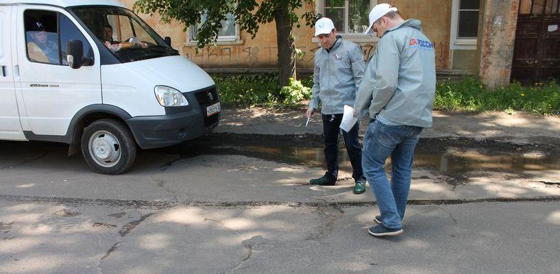 Предприниматели в Тамбове начали делать ямочный ремонт за свои деньги