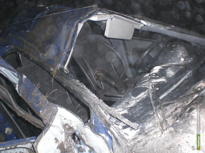В Тамбовской области водитель иномарки погиб после ДТП
