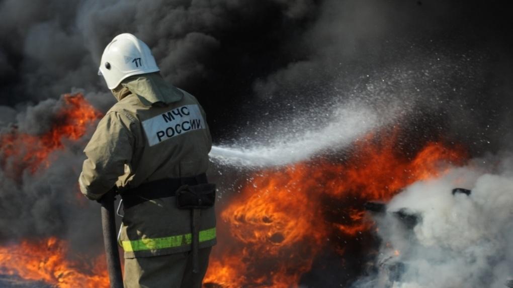 На бульваре Строителей горела сауна