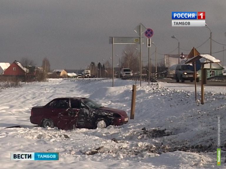 Пассажирский автобус попал в ДТП под Тамбовом
