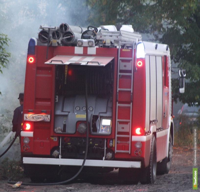 В Сампурском районе гараж сгорел вместе с иномаркой