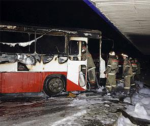 На Тамбовщине выгорел автобус