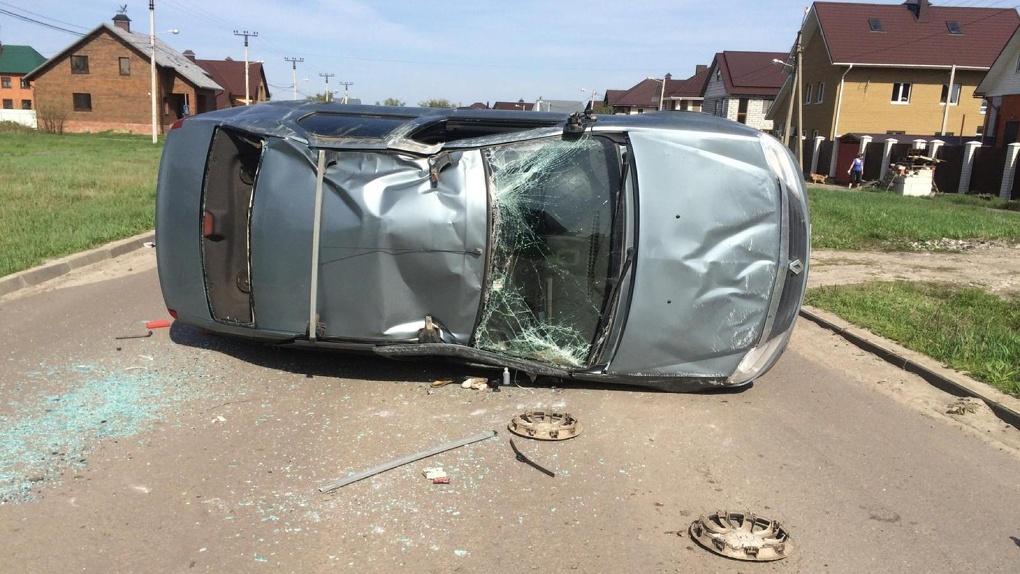 Столкновение автомобилей в Тамбове: пострадала 71-летняя пассажирка и водитель