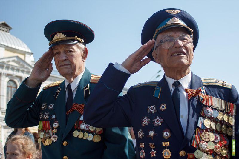 По центральным улицам Тамбова прошёл парад Победы