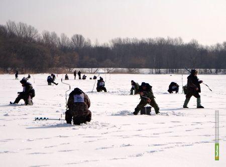 Сотня рыбаков вышла на лёд Тамбовского моря