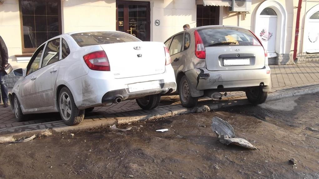 «Припарковались»: тройное ДТП в Тамбове
