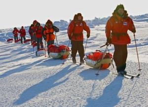 Тамбовский кадет прошёл на лыжах полпути к Северному полюсу