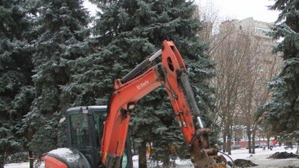 В сквере на площади Льва Толстого стартовали ремонтные работы