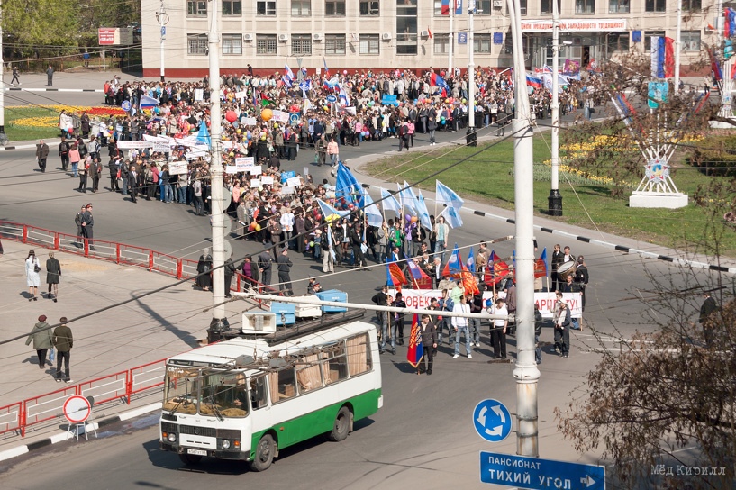 На Первомай в центре Тамбова встанет автомобильное движение