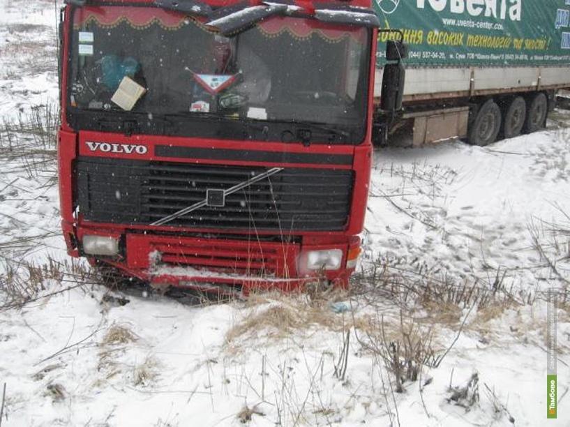 В Притамбовье грузовик попал в аварию