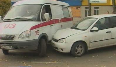 «Скорая помощь» стала виновником ДТП в Тамбове