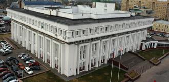 Возле областной администрации запретят движение транспорта