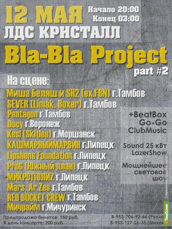 """На выходные тамбовские тусовщики включатся в """"Bla Bla Project"""""""