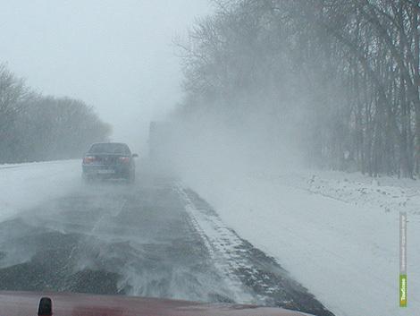 Снегопады осложнят ситуацию на тамбовских дорогах