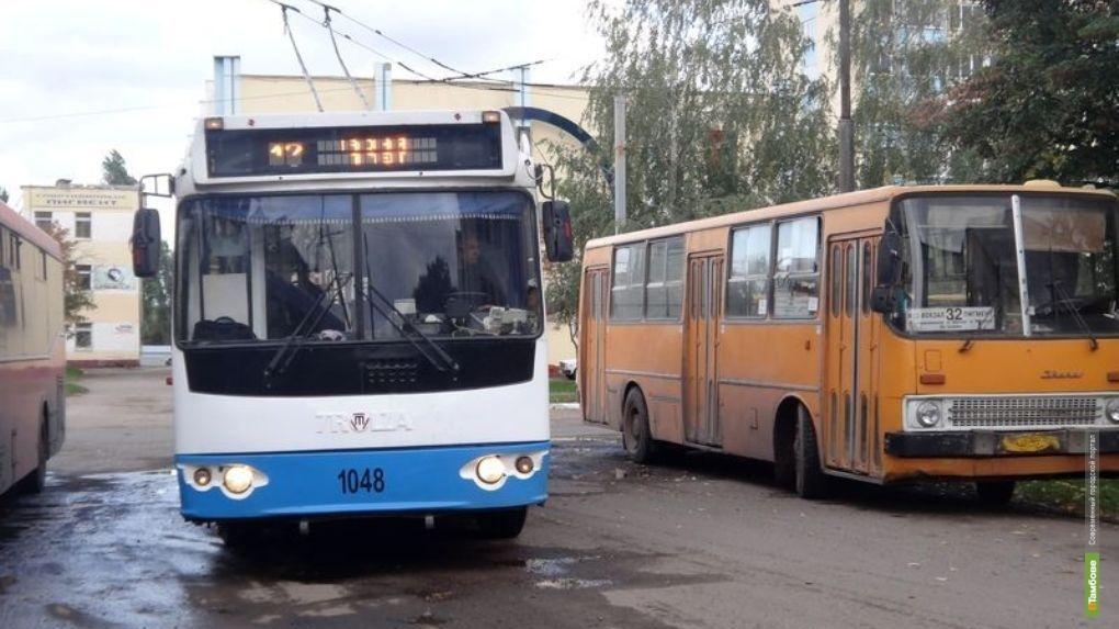 Резкий перепад температуры и дождь остановили работу троллейбусов в Тамбове