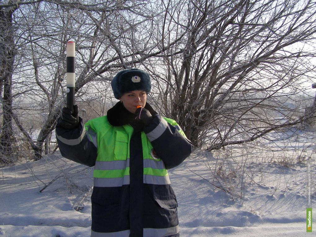 Автоинспекторы поздравят тамбовчан с 23 февраля