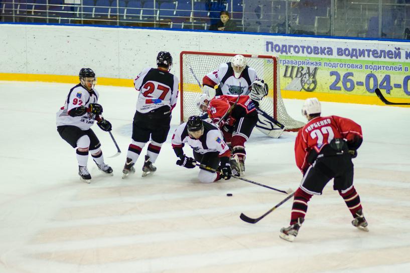 Тамбовские хоккеисты сыграли с ростовчанами