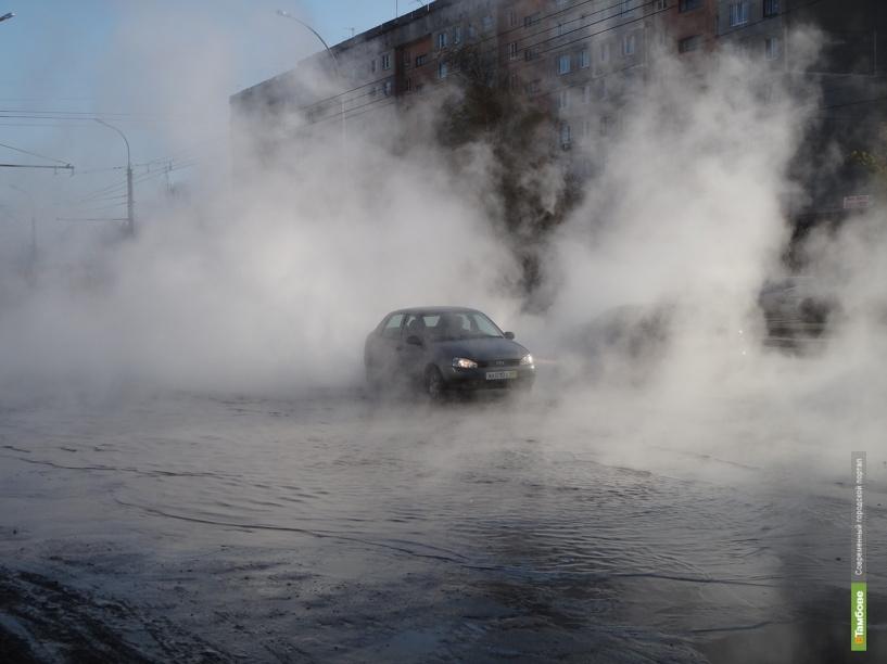 ЧП в Тамбове: Бульвар Энтузиастов утопает в кипятке