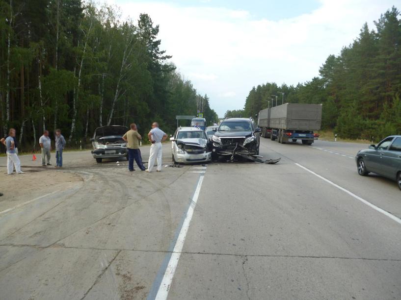 В Тамбовском районе произошло ДТП с четырьмя автомобилями