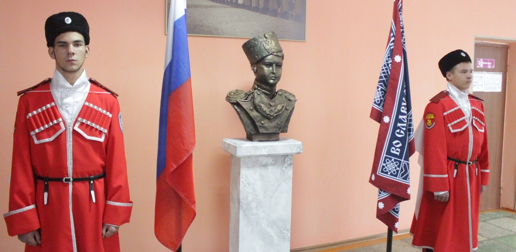В мичуринском колледже открыли бюст цесаревича Алексея