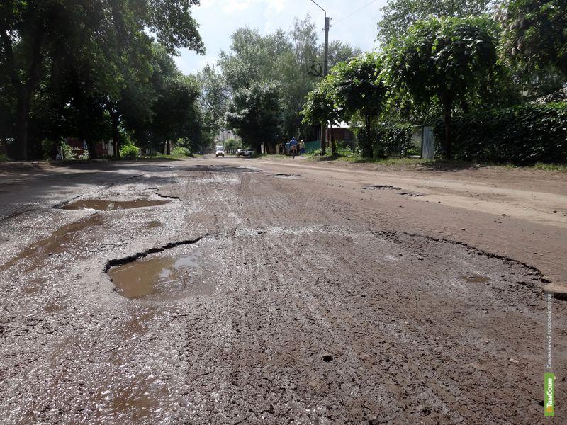 Ямы на тамбовских дорогах не «умещаются» в ГОСТ