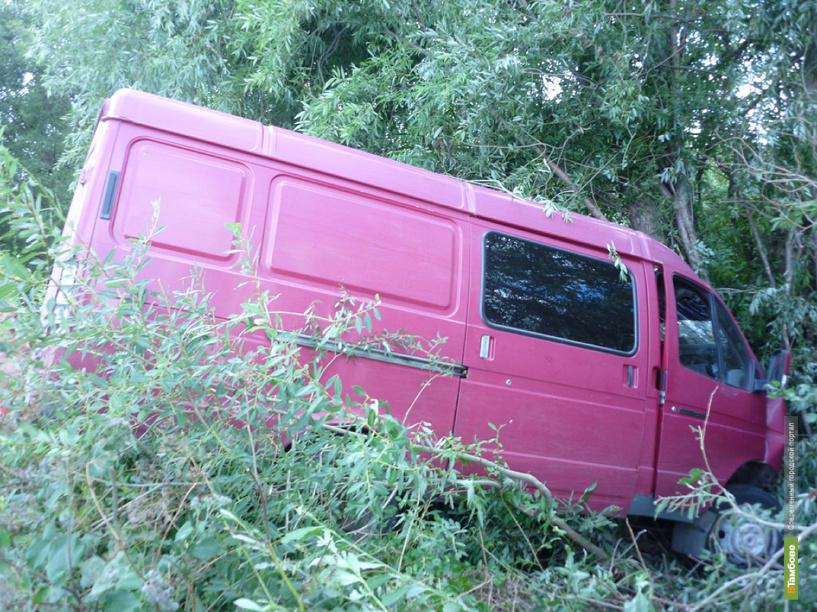 В Мичуринском районе «Газель» влетела в дерево