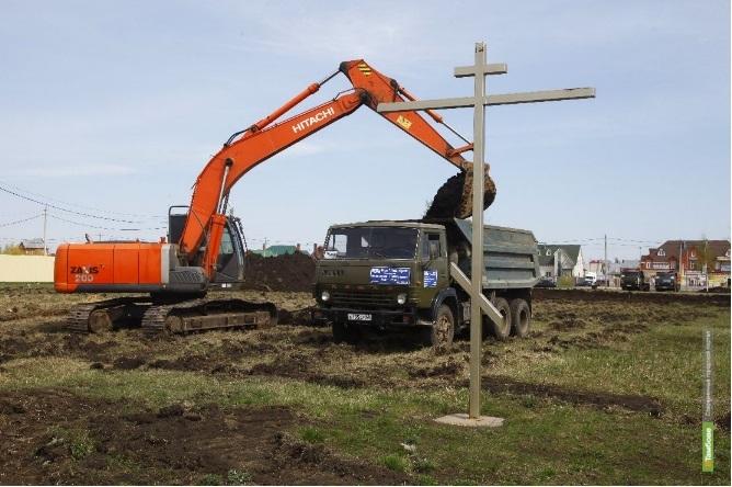 В Радужном началось строительство храма