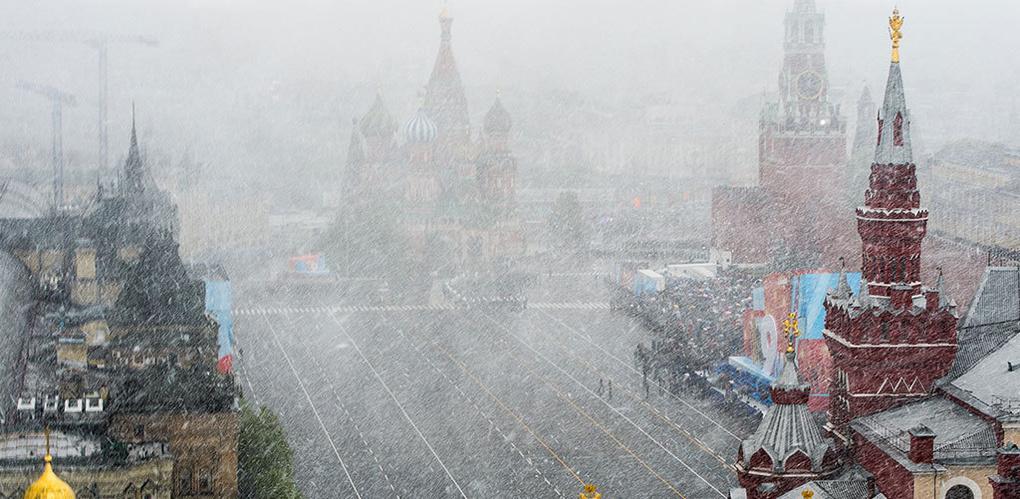 В Москве 8 мая прошел снег