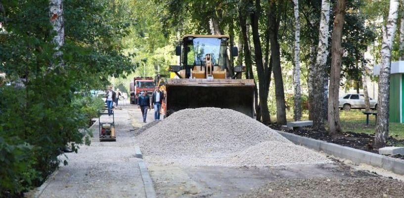 В Лётном городке начали благоустраивать дворовые территории