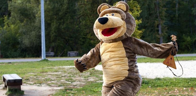 Оживший мем: в Тамбове видели медведя с балалайкой на уницикле