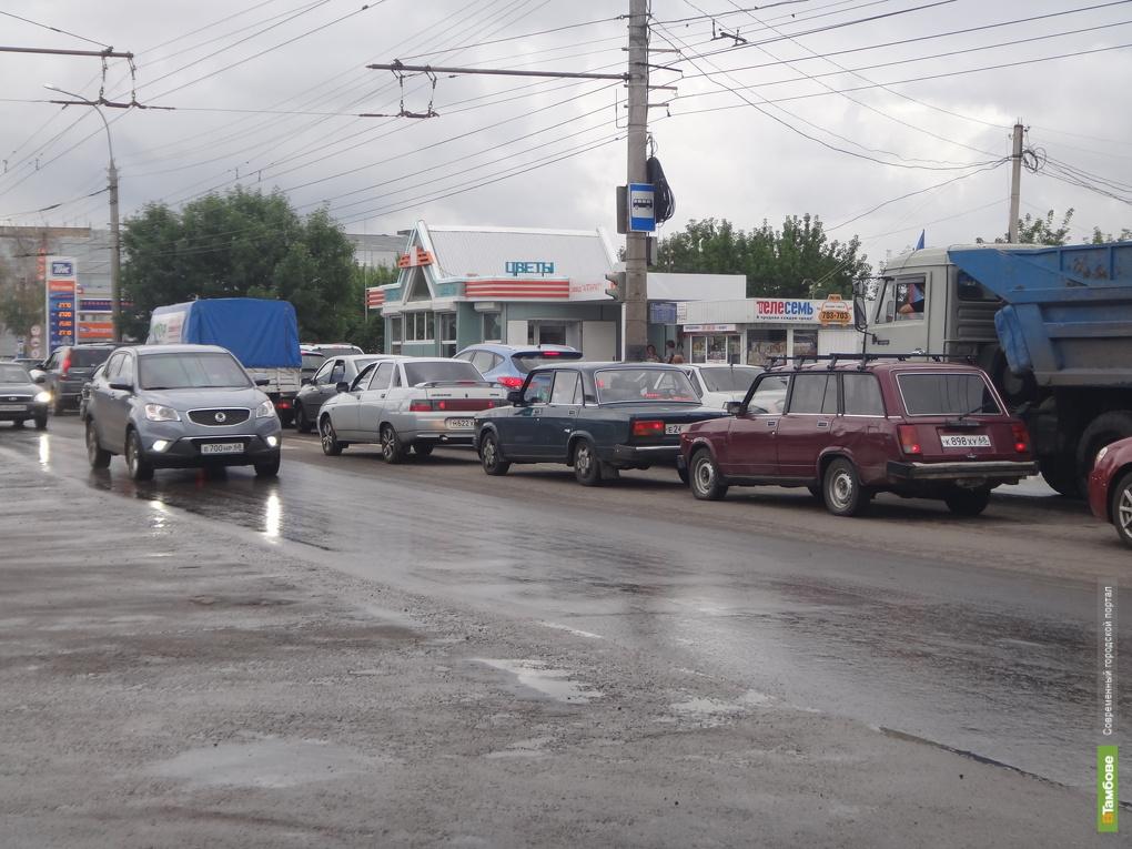 ДТП ВТамбове парализовало движение на бульваре Энтузиастов