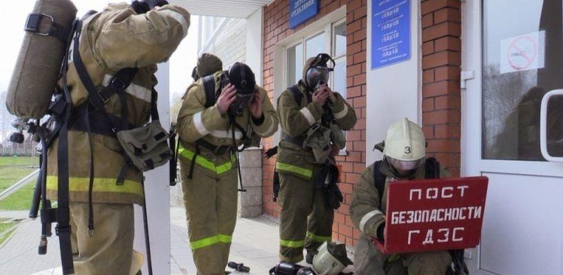В Тамбове на территории психиатрической больницы пожарные провели учения