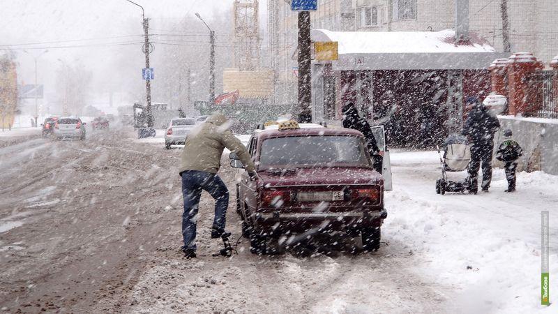 Первый снег в Тамбове: фоторепортаж