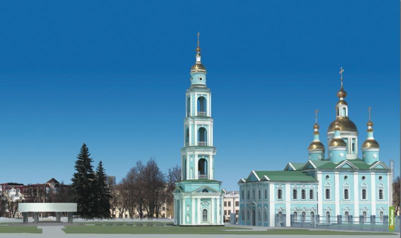 На Соборной площади Тамбова построят каменную колокольню